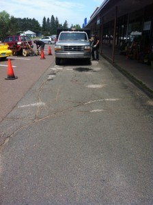 Prep for this long asphalt patch for a recent Duluth project